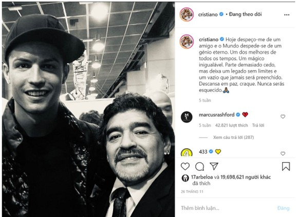 Bài đăng của Man.United về Ronaldo phá kỷ lục Instagram ảnh 4