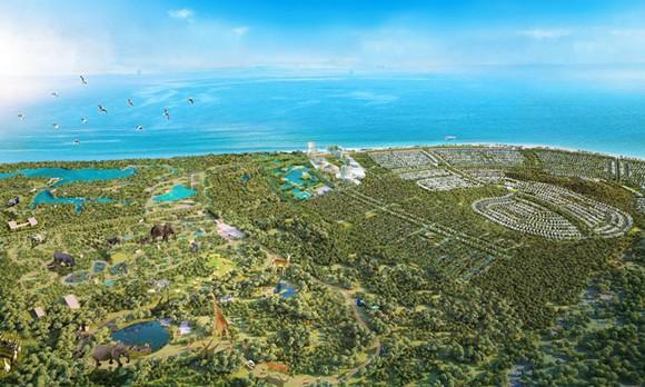 Phối cảnh quy hoạch tổng thể Safari Hồ Tràm.