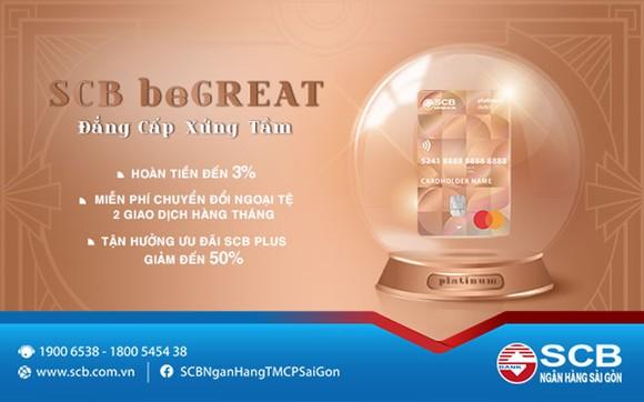 SCB giới thiệu sản phẩm thẻ thanh toán SCB beGREAT