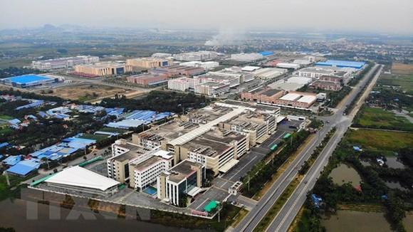 Dự án khu công nghiệp đô thị VSIP Hải Phòng là điểm sáng thu hút đầu tư nước ngoài (FDI) của cả nước với 58 dự án, có tổng vốn hơn 2 tỷ USD. (Ảnh: TTXVN)