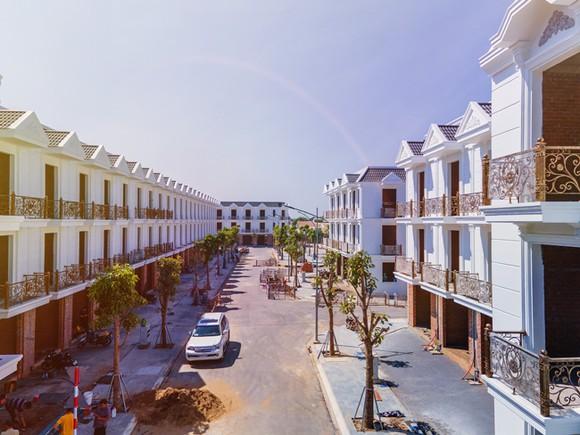 Hình thực tế dự án Nhà phố liên kế Cité D'amour.