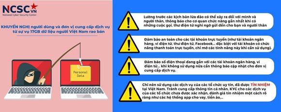 Khuyến nghị từ NCSC sau vụ rao bán 17G dữ liệu thông tin cá nhân của người Việt