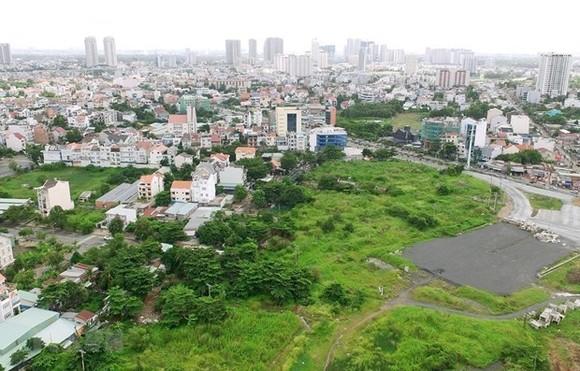 Khu tái định cư Khu đô thị mới Thủ Thiêm. (Ảnh: Quang Nhựt/TTXVN)