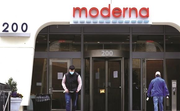Trụ sở hãng dược Moderna. Ảnh: Getty Images.