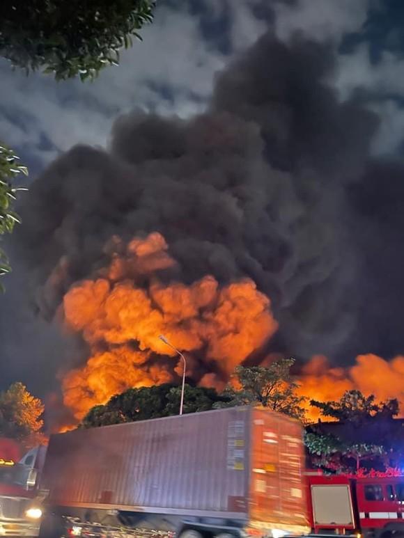 Cháy kho hàng trong KCN Sóng Thần 1, Bình Dương ảnh 1