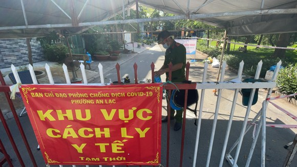 Phong tỏa một phần phường An Lạc, quận Bình Tân