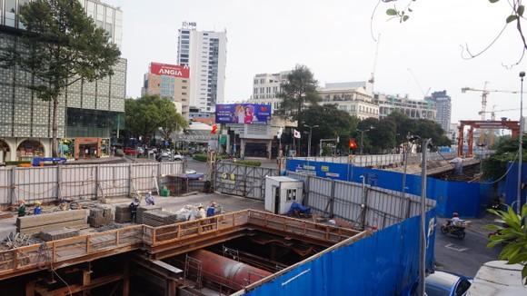 Dự án nhà ga ngầm tuyến metro Bến Thành - Suối Tiên. Ảnh: VĂN MINH