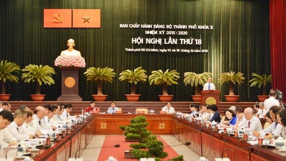 Quang cảnh Hội nghị lần thứ 18 Ban Chấp hành Đảng bộ TPHCM khóa X. Ảnh: VIỆT DŨNG