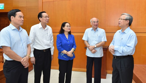 Thường trực Ban Bí thư làm việc với Thành ủy TPHCM về công tác tổ chức Đại hội Đảng ảnh 2