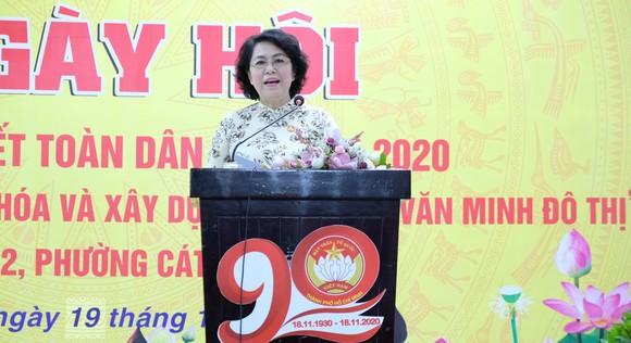Đồng chí Tô Thị Bích Châu phát biểu tại ngày hội. Ảnh: KIỀU PHONG