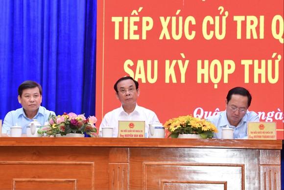 Bí thư Thành ủy TPHCM Nguyễn Văn Nên tiếp xúc cử tri ảnh 2