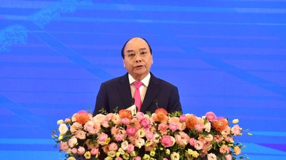 Thủ tướng Việt Nam Nguyễn Xuân Phúc phát biểu khai mạc Hội nghị Cấp cao ASEAN lần thứ 36. Ảnh: QUANG PHÚC