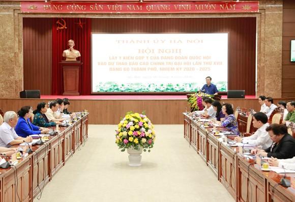 Đảng đoàn Quốc hội cho ý kiến vào Dự thảo Báo cáo chính trị của Đảng bộ TP Hà Nội ảnh 1