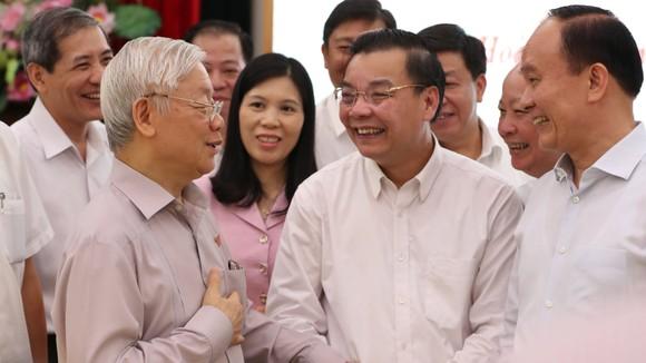 """Tiếp xúc cử tri Hà Nội, Tổng bí thư, Chủ tịch nước Nguyễn Phú Trọng: """"Lãnh đạo phải bản lĩnh, có phương pháp và đặc biệt là phải đoàn kết"""" ảnh 4"""