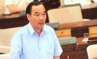 Phó Chủ tịch Ủy ban trung ương Mặt trận Tổ Quốc Việt Nam Ngô Sách Thực trình bày báo cáo tại phiên họp thứ 58 của Ủy ban Thường vụ Quốc hội