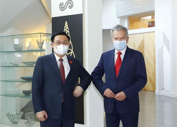 Chủ tịch Quốc hội Vương Đình Huệ hội kiến với Tổng thống Cộng hòa Phần Lan Sauli Niinisto