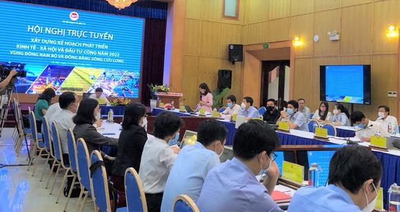 Quang cảnh hội nghị ở điểm cầu Bộ KH-ĐT