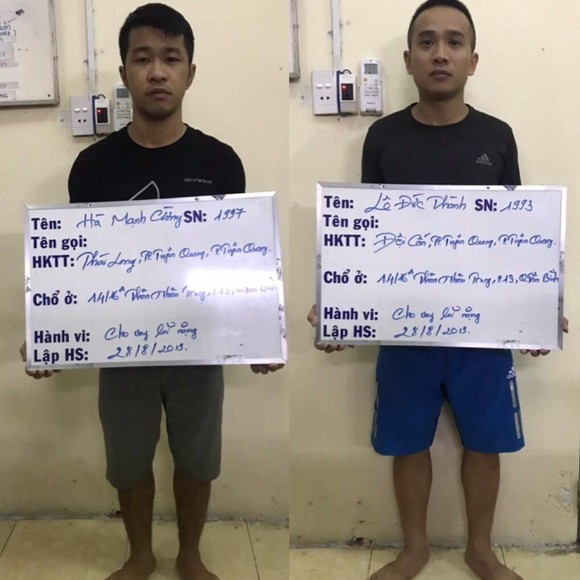 Bắt 2 nam thanh niên 9X chuyên cho vay nặng lãi ở TPHCM ảnh 1