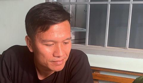 Đối tượng Trần Văn Định tại cơ quan công an