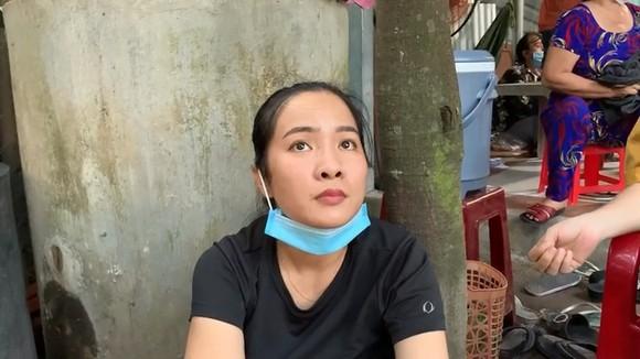 Nguyễn Thị Mỹ Loan lúc bị bắt tại hiện trường