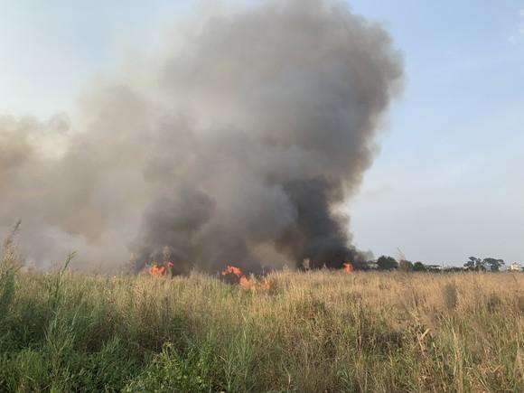 Cháy lớn ở bãi cỏ rộng hàng chục hecta trong khu công nghệ cao ảnh 3