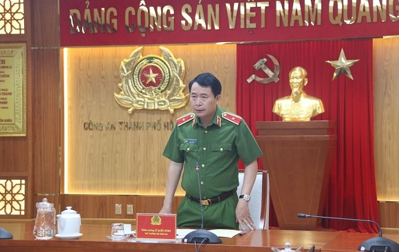 Thứ trưởng Bộ Công an Lê Quốc Hùng làm việc với Công an TPHCM về công tác PCCC&CNCH ảnh 3