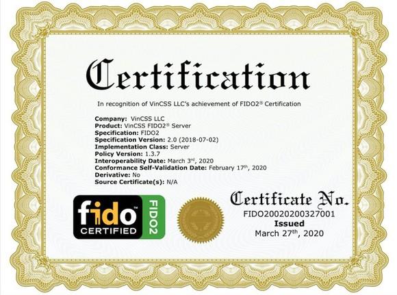 Vingroup đạt chuẩn FIDO2 thứ hai cho sản phẩm máy chủ xác thực mạnh ảnh 1
