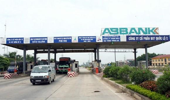 Trạm thu phí BOT trên Quốc lộ 2 đoạn Nội Bài - Vĩnh Yên