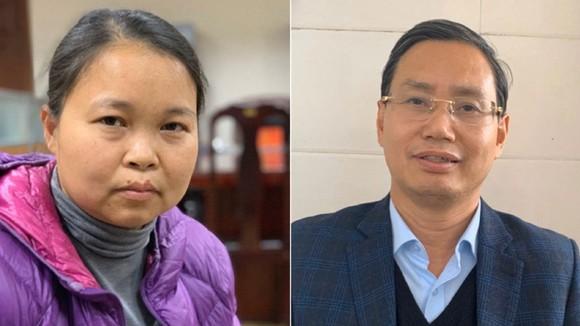 Bà Phạm Thị Thu Hường và ông Nguyễn Văn Tứ. Ảnh do công an cung cấp