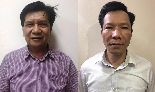 Hai bị can Trần Ngọc Hà và Vũ Quang Tâm. Ảnh: Bộ Công an