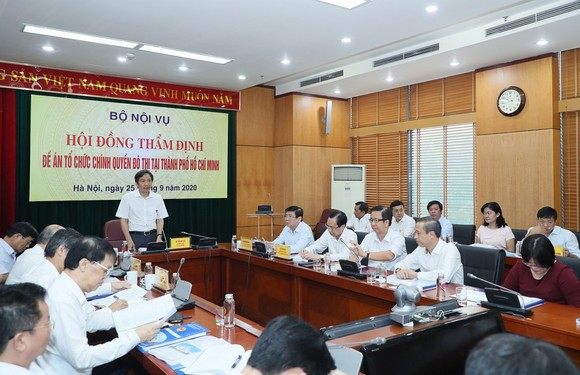 Hội đồng thẩm định thông qua Đề án Tổ chức chính quyền đô thị tại TPHCM ảnh 1