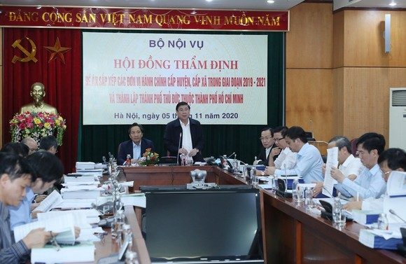 Hội đồng thẩm định thông qua đề án sắp xếp các đơn vị hành chính tại TPHCM  ảnh 1
