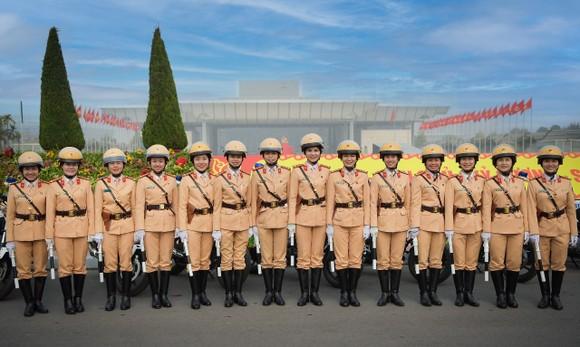 Lãnh đạo Cục Cảnh sát giao thông kiểm tra công tác tổ chức phân luồng cho Đại hội Đảng ảnh 1