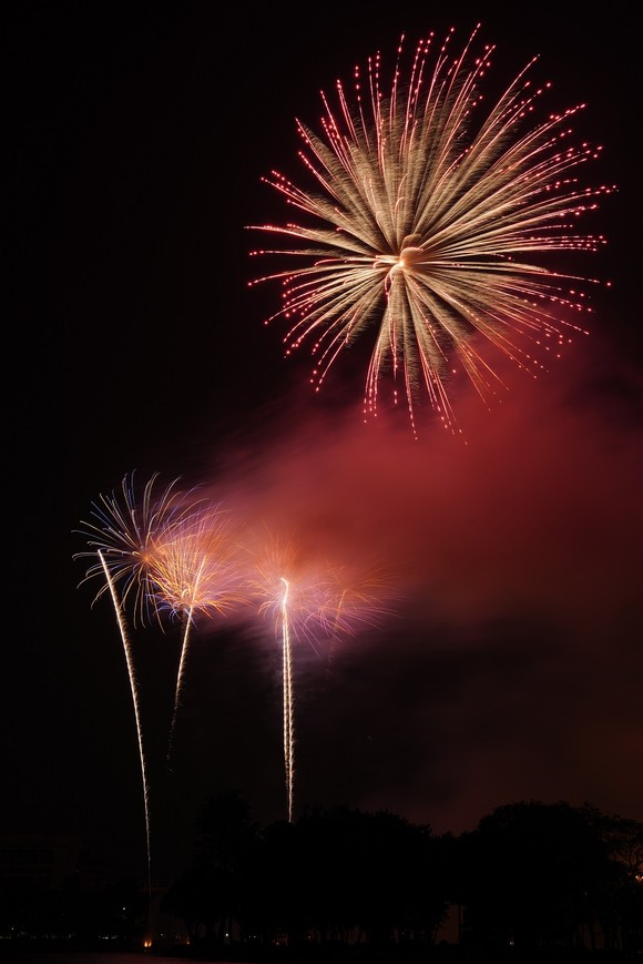 Màn pháo hoa tầm cao chào năm mới duy nhất ở Hà Nội ảnh 13