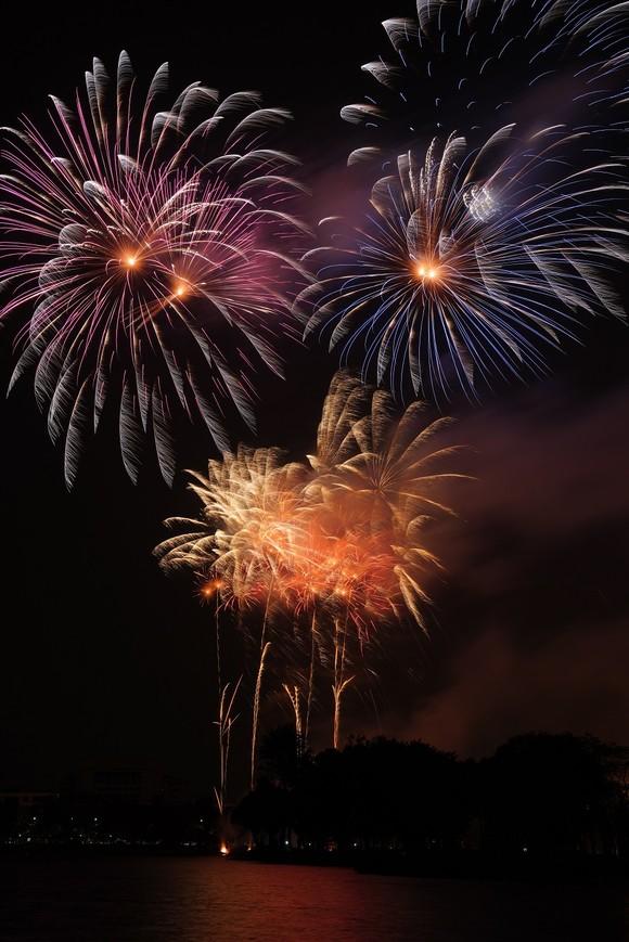 Màn pháo hoa tầm cao chào năm mới duy nhất ở Hà Nội ảnh 10