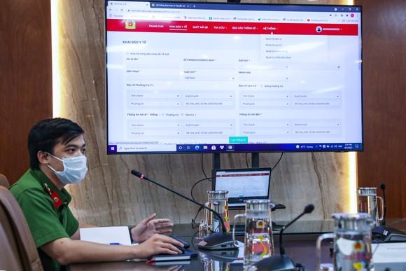 Bộ Công an giới thiệu hệ thống khai báo y tế để nhanh chóng truy vết F0 ảnh 1
