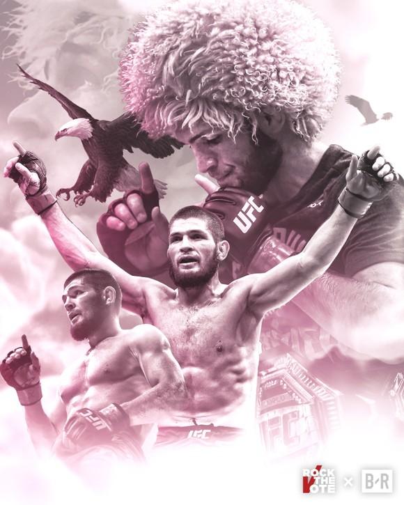 UFC 254: Bị gãy chân 3 tuần trước, Khabib vẫn thắng Gaethje bằng đòn siết cổ và… giải nghệ vì lời hứa với mẹ già ảnh 3