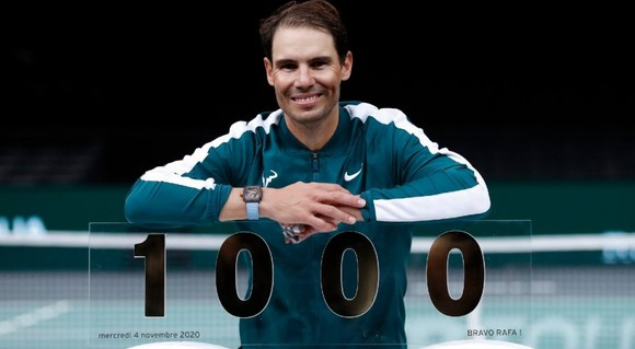 Nadal ăn mừng cột mốc 1.000 trận thắng