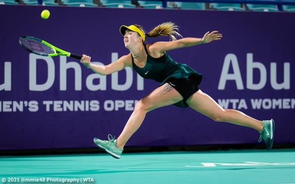 Kết quả Abu Dhabi Open (10-1-2021) - Sofia Kenin và Elina Svitolina chật vật vào tứ kết ảnh 3
