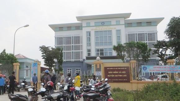 Trụ sở Bảo hiểm xã hội huyện Quỳnh Lưu nơi xảy ra vụ việc. Ảnh: V.H