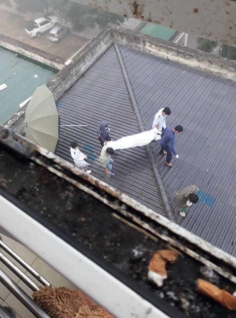 Phát hiện một bệnh nhân nghi nhảy lầu tự tử ảnh 1