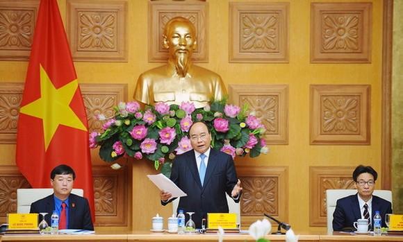政府總理阮春福在會上發言。