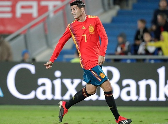 西班牙前鋒莫拉塔。