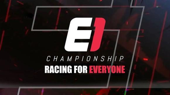 E1冠軍第一季模擬賽車比賽橫幅。