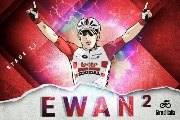 Giro d'Italia: Ewan rút lui... sau khi giành chiến thắng thứ 2, Demare chiếm Áo tím ảnh 2