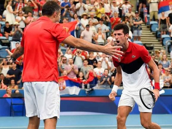 ATP Cup: Thắng 35/42 trận gần đây, Medvedev đưa tuyển Nga vào BK, sẽ đối đầu Serbia của Djokovic ảnh 3