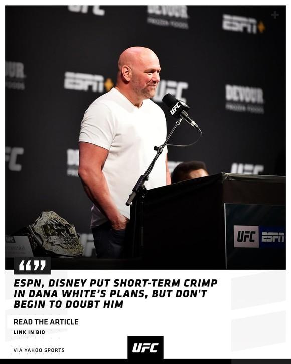 Dana White từng bị ESPN và Disney tuýt còi, nhưng lần này vẫn hy vọng tổ chức UFC 249 vào ngày 9-5