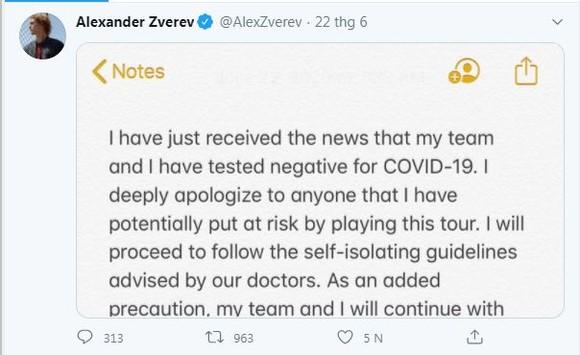 Alexander Zverev: Mới thề tự cách ly sau biến cố ở Adria Tour, nay đã tiệc tùng cùng bạn bè giàu có - lần vi phạm thứ 2 ảnh 1