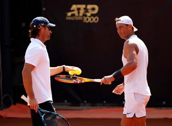 Nadal đang tích cực tập luyện ở Foro Italico