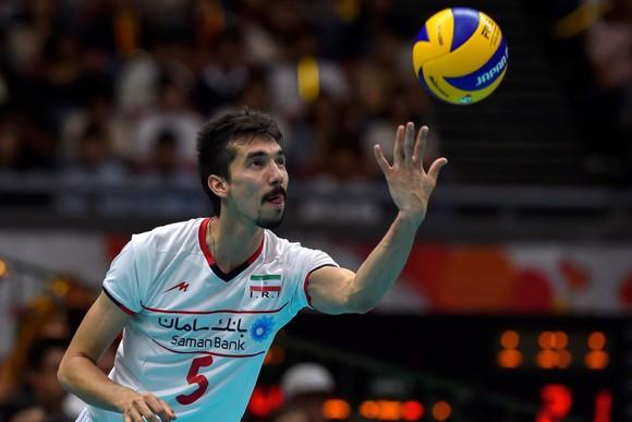 Ghaemi khi còn chơi cho Đội tuyển bóng chuyền Iran